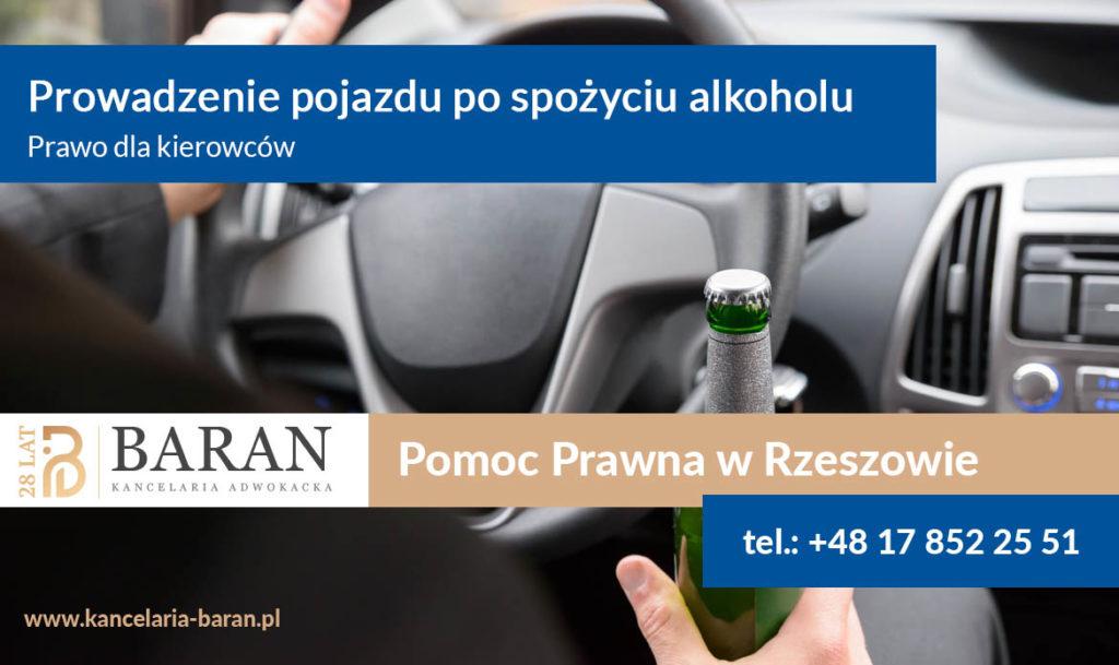 Prawo dla kierowców - Prowadzenie pojazdów po spożyciu alkoholu